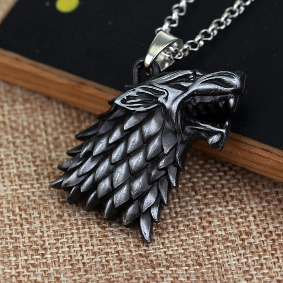 Cordão Colar Com Pingente Game Of Thrones Hbo Casa Stark