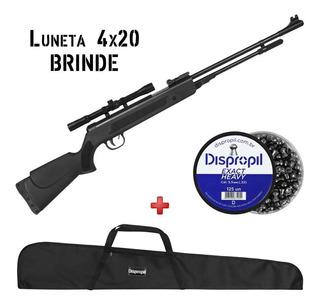 Carabina Pressão Fixxar Black 5.5mm + Luneta + Capa + Chumbo