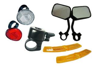 Acessórios Para Bike Pr Retrovisor Refletores E Campainha