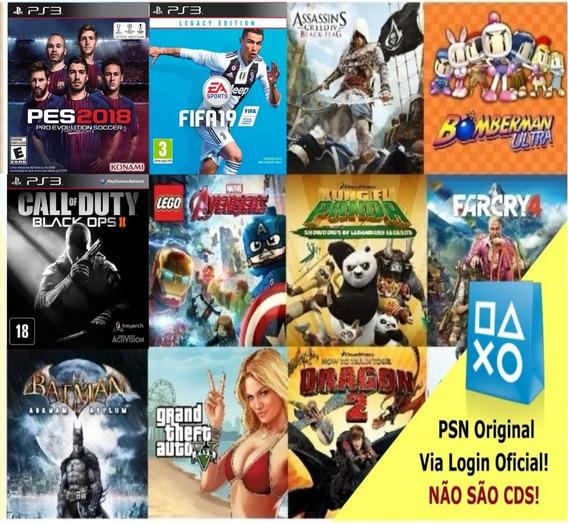 15 Jogos Playstation 3 Originais Da Psn,300 Opções Leia Desc