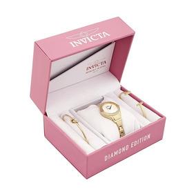 Kit Invicta Relógio+pulseira Feminino Na Cor (rosa)original