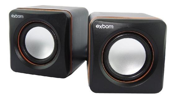 Mini Caixa De Som 2.0 4w Rms Pc-notebook-celular Exbom Cs-39