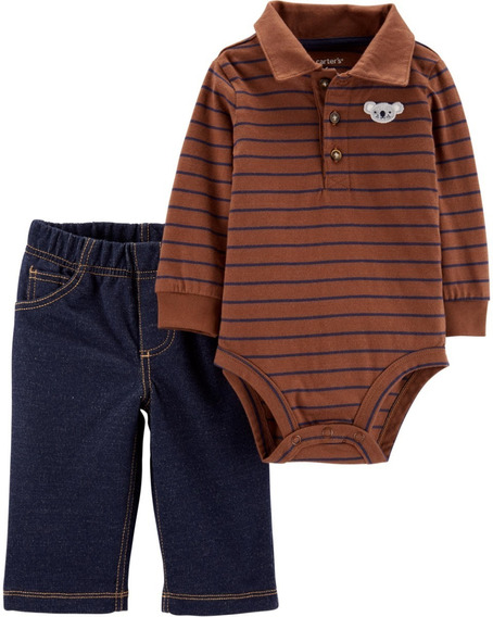 Set De Pañalero Y Pantalón Niño Talla 18m Marca Carter