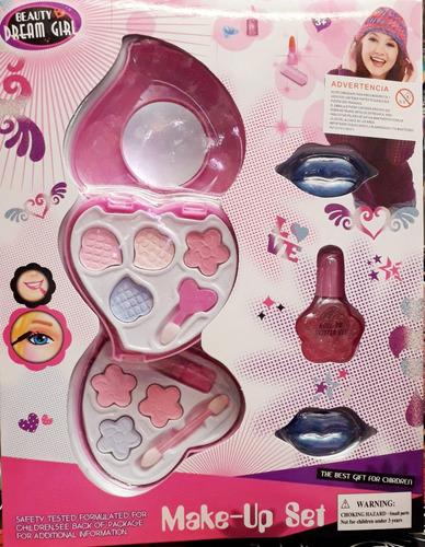 Maquillaje Para Niñas/sombras/esmalte/brillo Labial