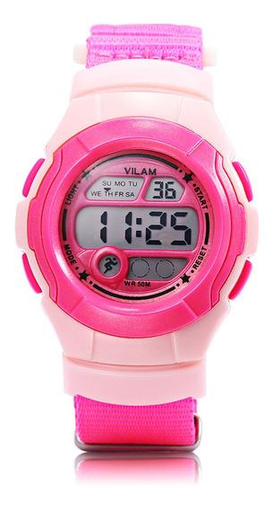 Reloj De Pulsera Deportivo Digital Para Niños-rosa