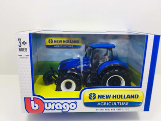 Miniatura Trator Agrícola New Holland T7.315 Burago 1/32