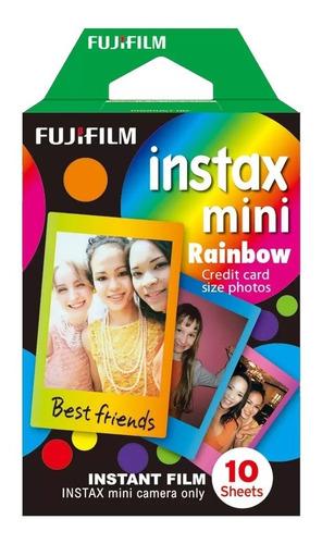 Filme Instantâneo Fuji Instax Mini Rainbow Caixa 10 Fotos