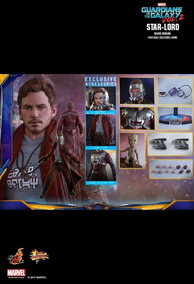 Hot Toys Mms421-guardians Of The Galaxy Vol.2- Star Lord Vip