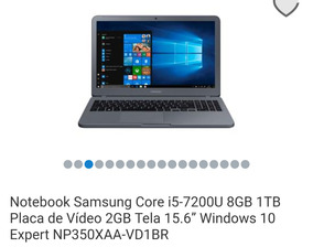 Notebook Samsung 8gb Ram 1 Tb
