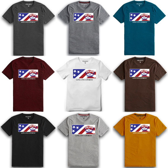 Camiseta Country Americana King Ranch Txc Texas 4x4 Rodeio