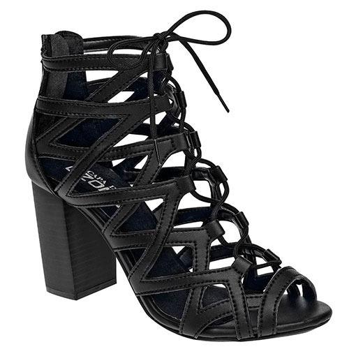 Zapatos Formal Tacon Capa De Ozono Niña 8c Neg Dtt 78085