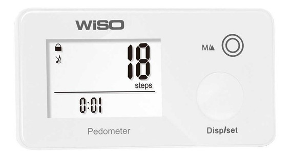 Pedômetro Slim Monitora Caminhadas Calorias Distancias Wiso