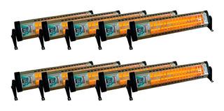 Pack X10 Estufa Horizontal Eléctrica Cuarzo Por Mayor 1200 W