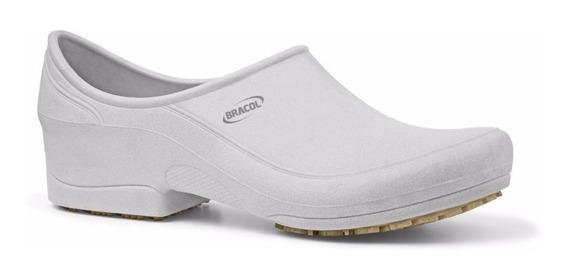 Sapato Flip Branco Ocupacional Impermeável E Antiderrapante