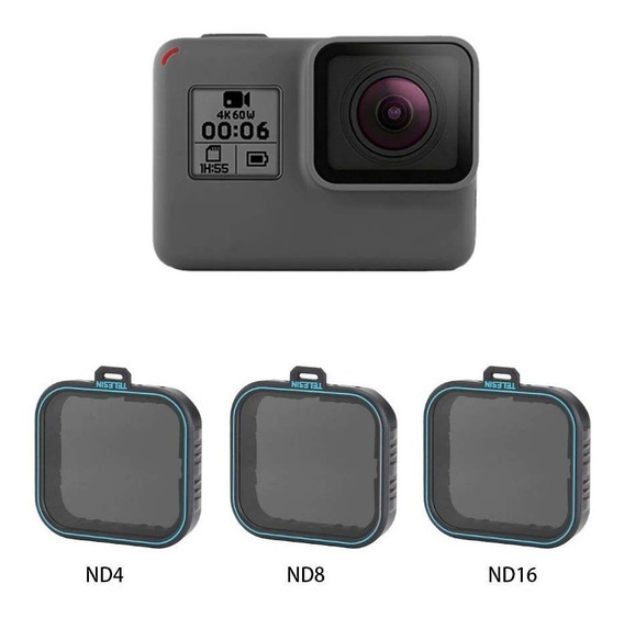 Filtros Nd Para Gopro Hero7 6 Hero5 Black - Nd4 Nd8 Nd16