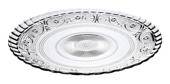 Prato Decorado Para Bolo Pudim Torta 30cm Vidro Class Home