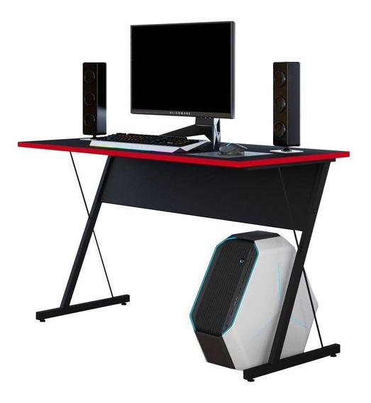 Mesa Para Computador Pc Gamer Kombat Pto Vermelho Lyam Decor