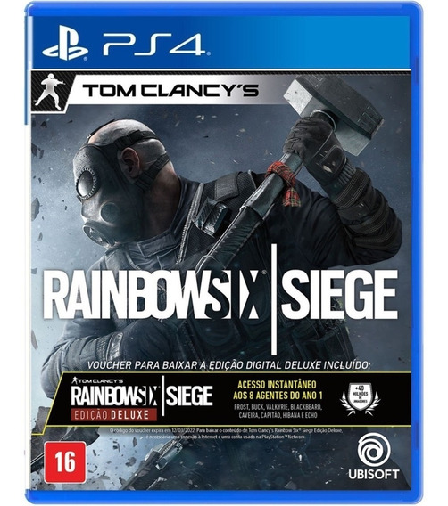 Game Rainbow Six Siege Deluxe Ps4 Midia Fisica Novo Dublado