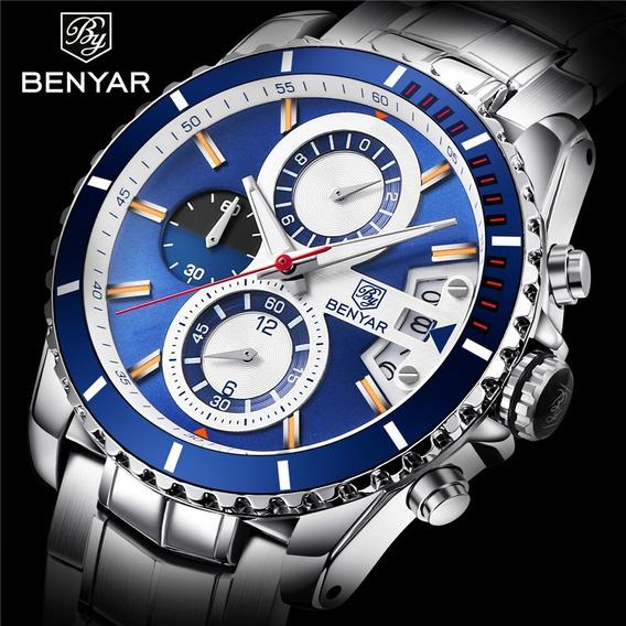 Relógio - Benyar - 42mm - Multifuncional - Hardlex