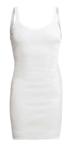 Mini Vestido De Alça Branco Modelo Tubinho Básico