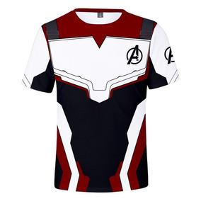 Playera Casual T -camisa Avengers Endgame Quantum