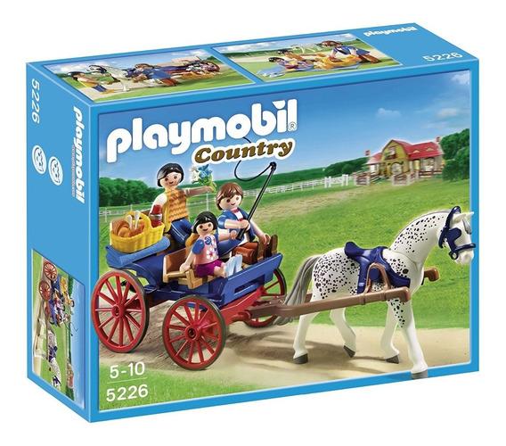 Brinquedo Lacrado Playmobil Carruagem Puxada A Cavalos 5225