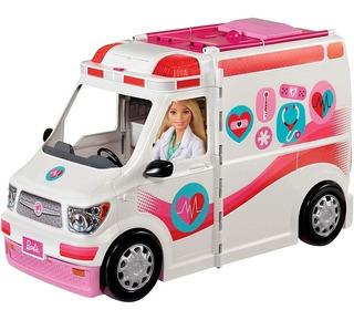 Barbie Ambulancia Y Hospital Sonidos Luces Incluye Muñeca