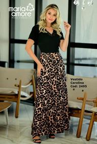 Vestido Longo Duo Carolina - Maria Amore
