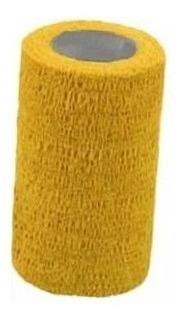 12 Bandagens Ataduras Amarela  Elástica 7,5x4,5m Bodybuilder