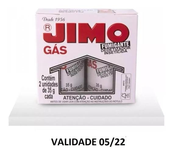 Jimo Gás Fumegante Dedetizador Kit Com 2 Frasco 35 Gr