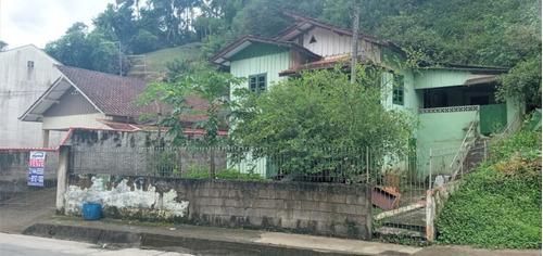 Imagem 1 de 4 de Casa De Madeira E Excelente Terreno Residencial Para Construir Ou Para Investimento Em Rua Asfaltada No Bairro Da Glória - 35711457v