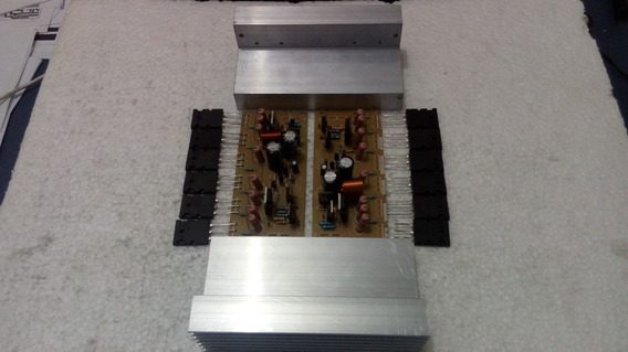 2 Placas Amplificador 600w C/ 12 Saidas + Dissipador