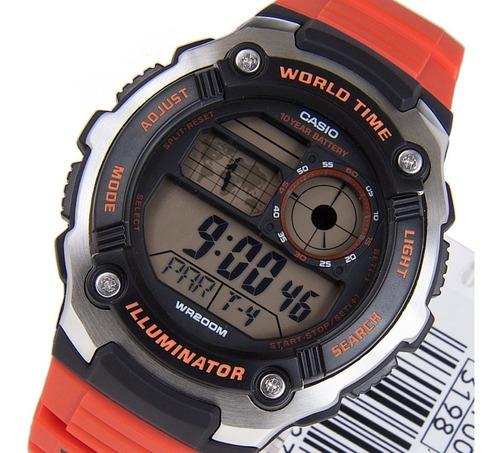 Reloj Casio Iluminator Digital Wordl Timer Ae-2100w-4avdf