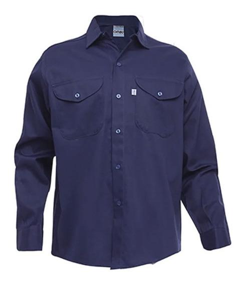 Ropa De Trabajo Ombu Camisa Color Azul Beige Original