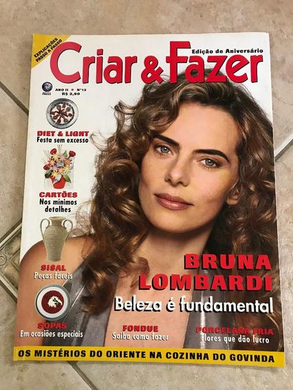 Revista Criar E Fazer 12 Bruna Lombardi Sisal Cartões E582