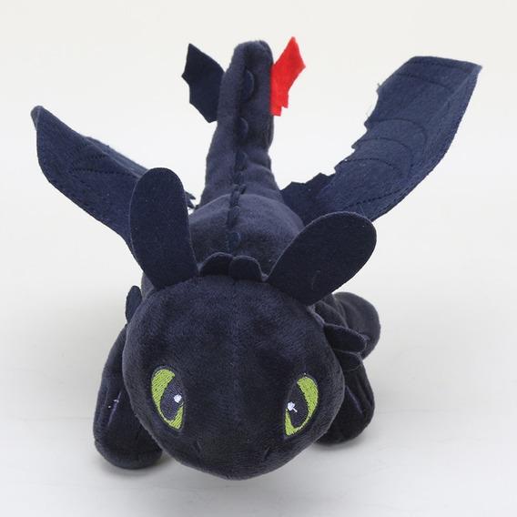 Dragão Preto Pelúcia Brinquedo Crianças Disney Banguela