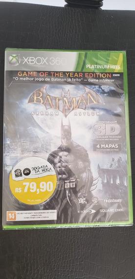 Batman Arkham Asylum - Xbox 360 Goty Lacrado