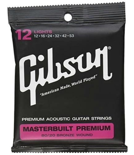 Imagen 1 de 1 de Encordadura P/guitarra E/acustic. Sag-brs12 Gibson