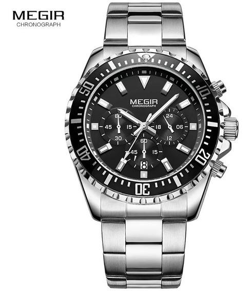 Relógio Megir 2064 Original 30 Metros Inox