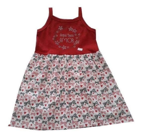 Vestido Feminino Infantil Criança - 015374