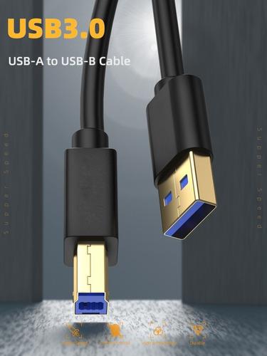 Imagem 1 de 9 de Cabo Impressora Usb 3.0 Usb-a Usb-b 480mpbs 1.2m