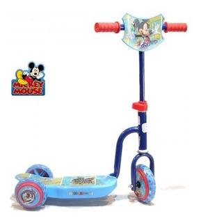 Monopatin Mickey 3 Ruedas Licencia Oficial - Racer Bikes