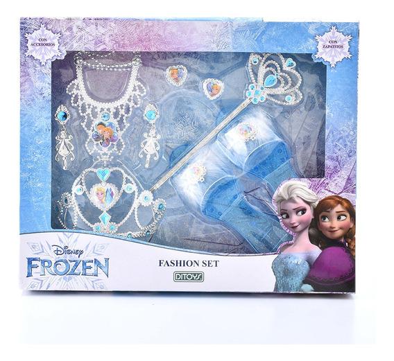 Fashion Set Accesorios Belleza Frozen Original Ditoys