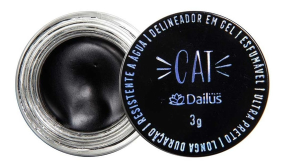 Dailus Cat Delineador Em Gel Ultra Preto 3g