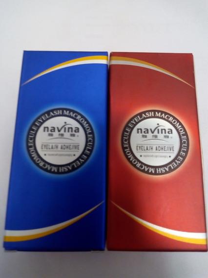 Cola Navina Para Cílios Azul E Vermelha Antialérgica