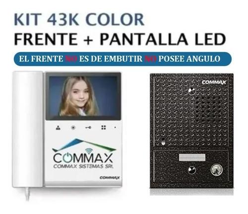 Portero Visor Lcd Led 4 Color Commax Frente Antivandalico