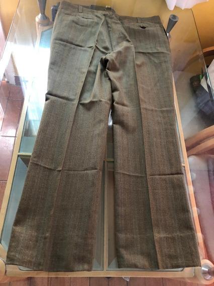 Pantalon De Vestir Marron Tipo Sastre Excelente Estado
