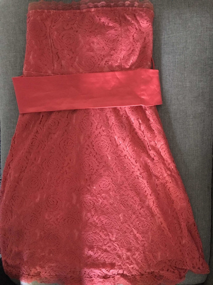 Vestido De Fiesta Strapless. Impecable!! Hermoso Color