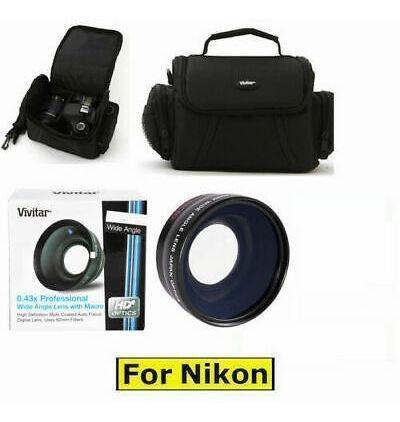 Imagen 1 de 8 de Lente Gran Angular + Lente Macro + Funda Para Nikon D5000...