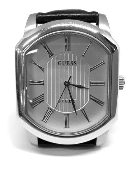 Relógio Guess G80194g Original Usado Pulseira De Couro